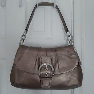 Coach Soho Leather Flap Purse Bag